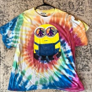 Minions illumination entertainment tie die shirt